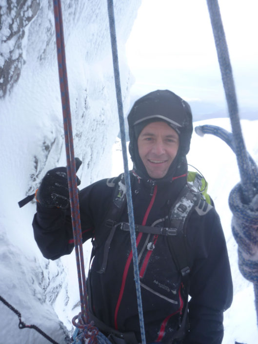Guiding esoteric mixed climbs in Glencoe