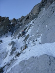 Pitch 2 of the Eugster Couloir Direct