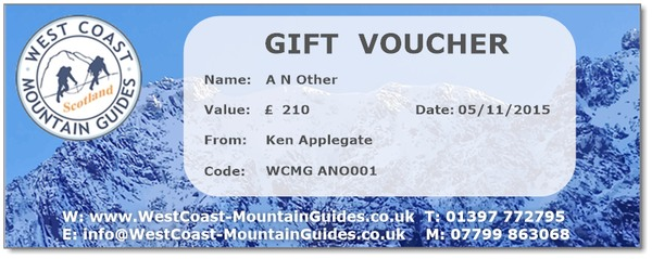 Gift Voucher for hillwalkers, climbingers and mountaineers