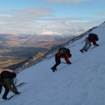 looking at movement on snow, Aonach Mor