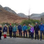 Hillwalking team in Glen Etive