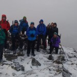 Team on the summit of Beinn Fhionnlaidh