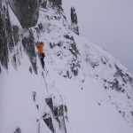 First pitch of Crest Route, Glencoe