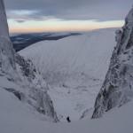 Descending No 3 Gully, Ben Nevis