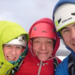 Windy on the summit of Beinn a'Chaorainn