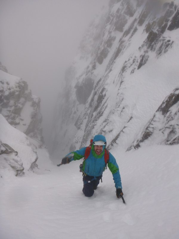 Duncan enjoying himself in No. 2 Gully