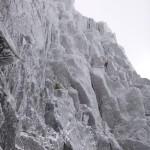 Winter climbing team on Archangel