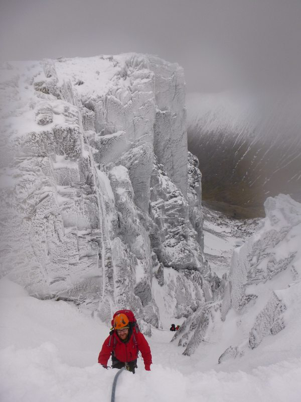 Topping out No. 3 Gully, Ben Nevis