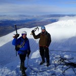 At the top of Tower Ridge, Ben Nevis