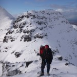 Winter mountaineering on the Horns of Alligin