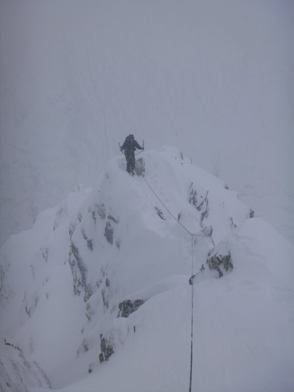 The grand finale on the E Ridge of the N Buttress!