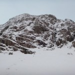 Stob Coire nam Beith - not in great winter condition for climbing