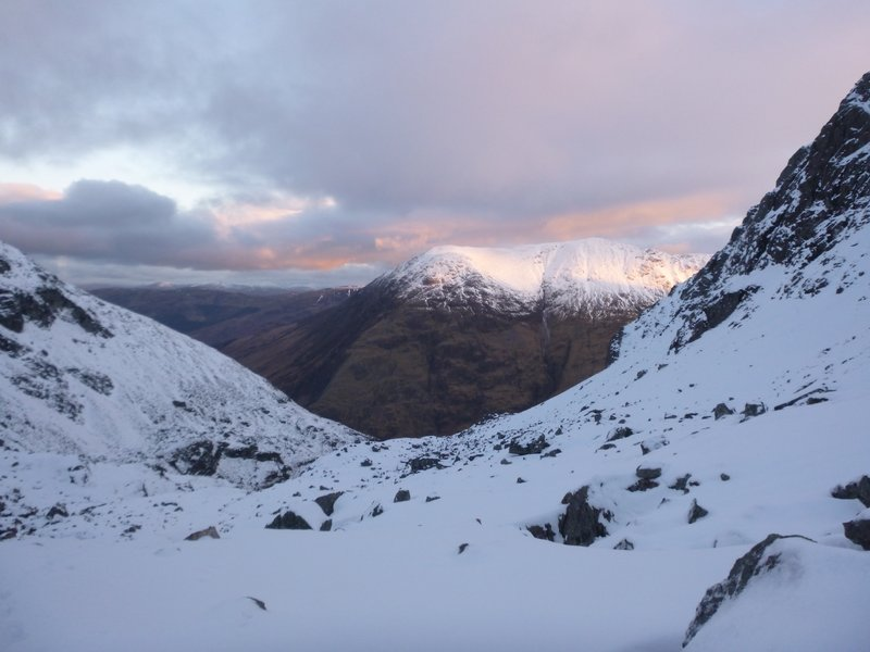 Morning light on the Aonach Eagach