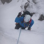 Gavin enjoying the ice climbing, George, Liathach