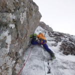Steve on pitch 2, Gutless, Ben Nevis
