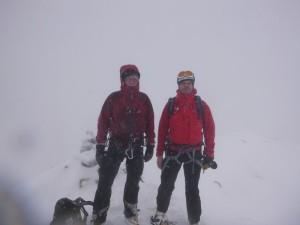 On the summit of Stob Ban