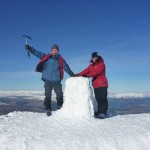 Success! Safe guiding up Ben Nevis in winter.
