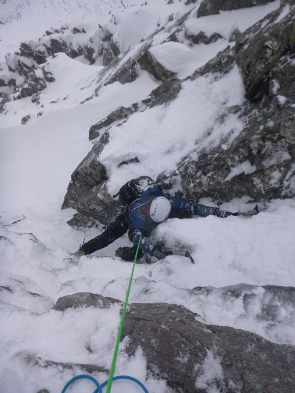 Good winter climbing on Fawlty Towers