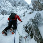 Pete leading Pinnacle Buttress Groove