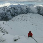 Good winter climbing conditions on Stob Coire nan Lochan