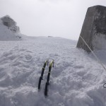 Highest belay in the UK, on the summit of Ben Nevis