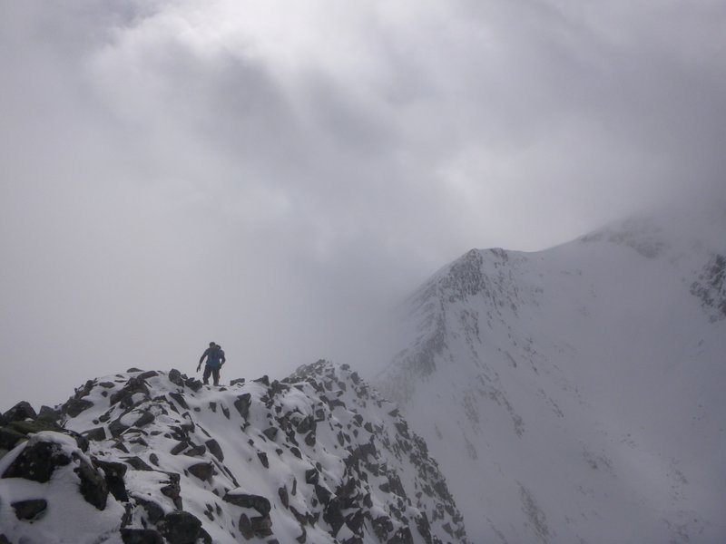 Atmospheric on the Carn Mor Dearg Arête