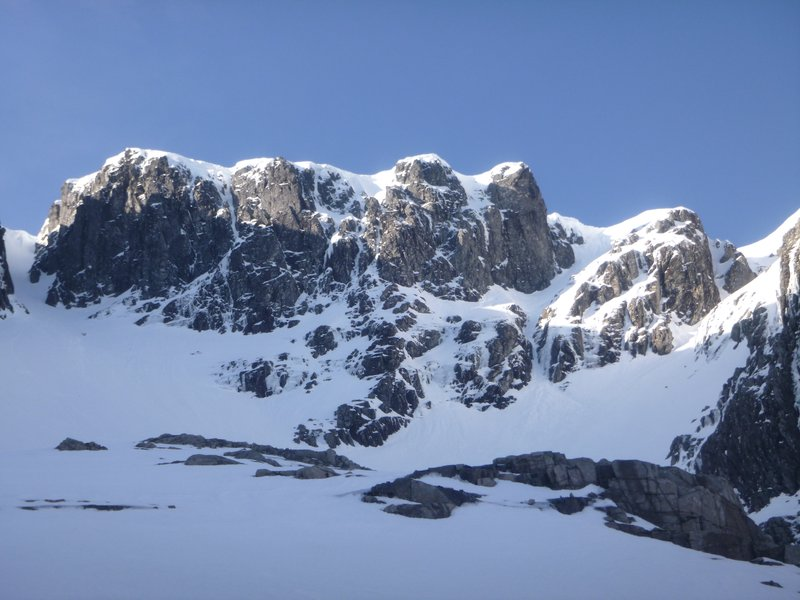 Blue skies above Creag Coire na Ciste