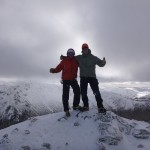 On the summit of Stob Dearg.