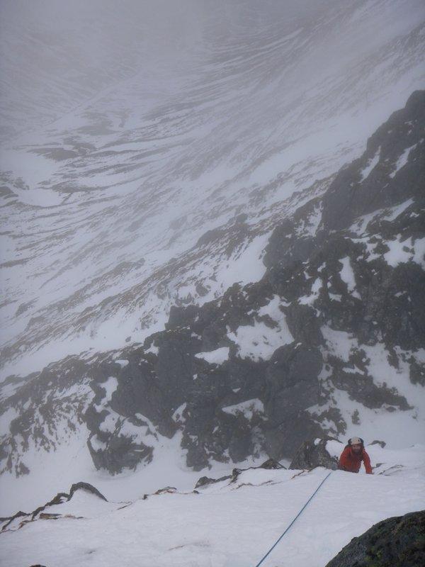Guiding Western Rib on Aonach Mor