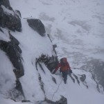 High up on Western Rib, Aonach Mor