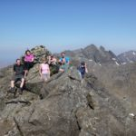 On the summit of Sgurr nan Eag during a Cuillin Munros Course