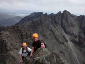 On the Inn Pinn, Cuillin Ridge, Skye
