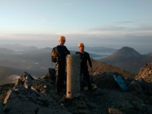 The only trig point on the main Cuillin Ridge, Bruach na Frithe