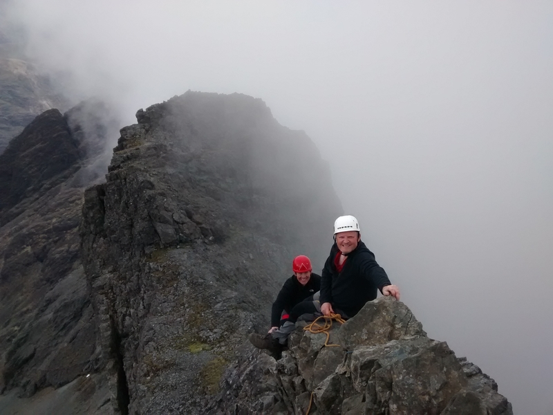 David and David enjoying the scrambling on Skye.
