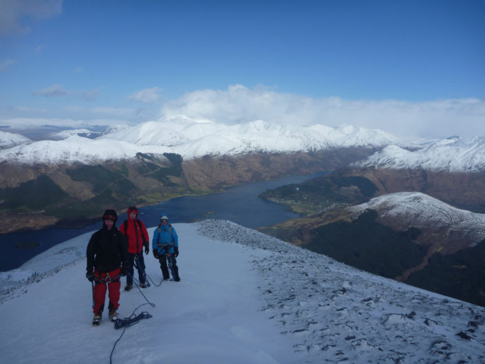 Glencoe, a fine venue for our winter mountaineering courses