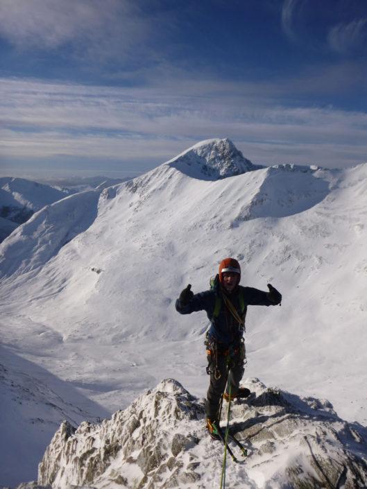 Mixed Climbing on Aonach Beag on our Winter Climbing Course