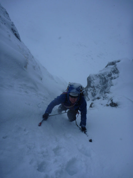 Coached leading on our winter climbing courses