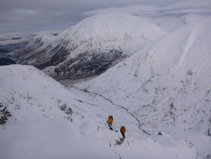 East Ridge of Stob Ban, a classic winter mountaineering ridge