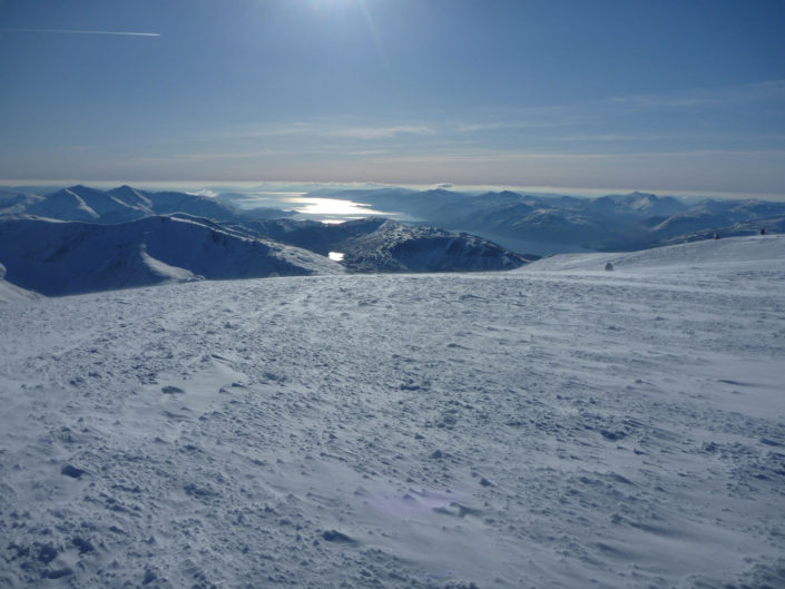 Perfect views from the summit of Ben Nevis