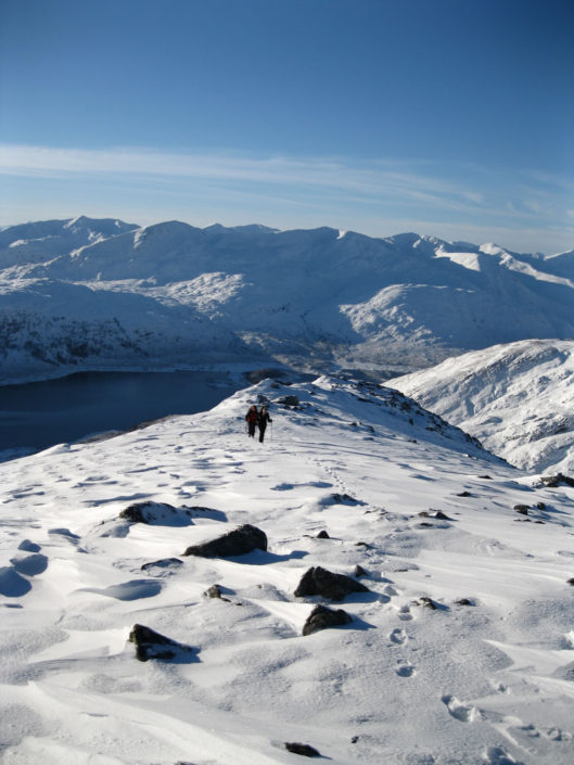 Glorious winters day in Glen Shiel