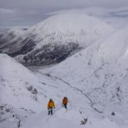 Great winter mountaineering conditions in the Mamores