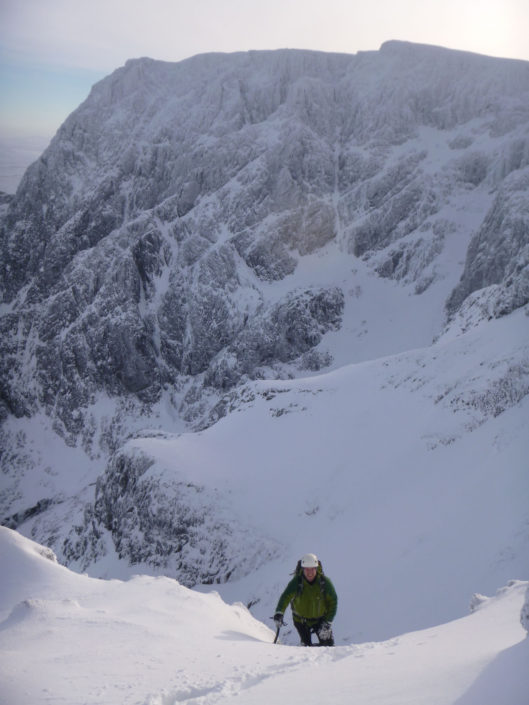 Winter mountaineering can be done early season on Ben Nevis