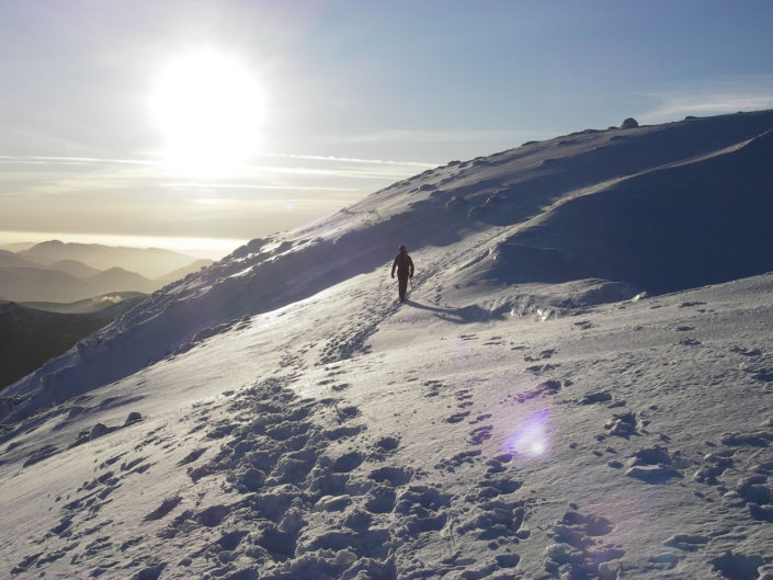 Perfect conditions for winter walking on Ben Nevis