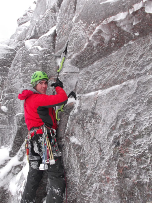 Mixed climbing in the Cairngorms on our Advanced Winter Climbing Course