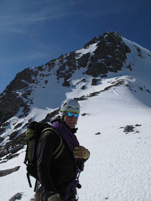 Winter mountaineering high on Ben Nevis