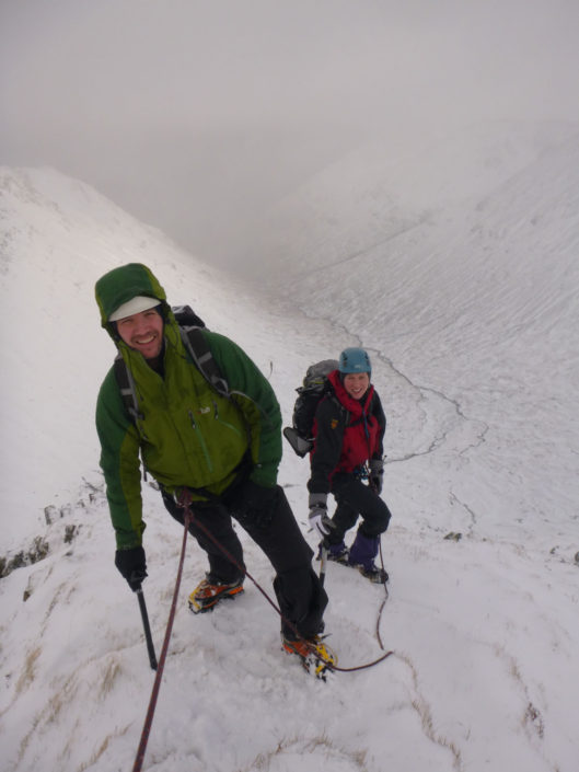 Winter mountaineering on Sron na Lairig, Glencoe