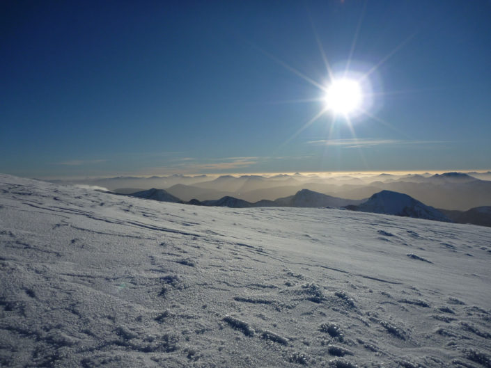 Another fine day on Ben Nevis in winter