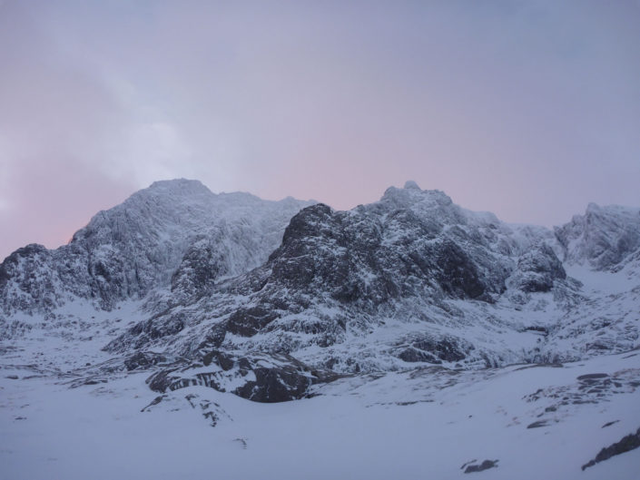 The magical north face of Ben Nevis, perfect for our Scottish Winter Skills Course