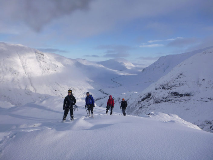 Amazing winter conditions in Glencoe