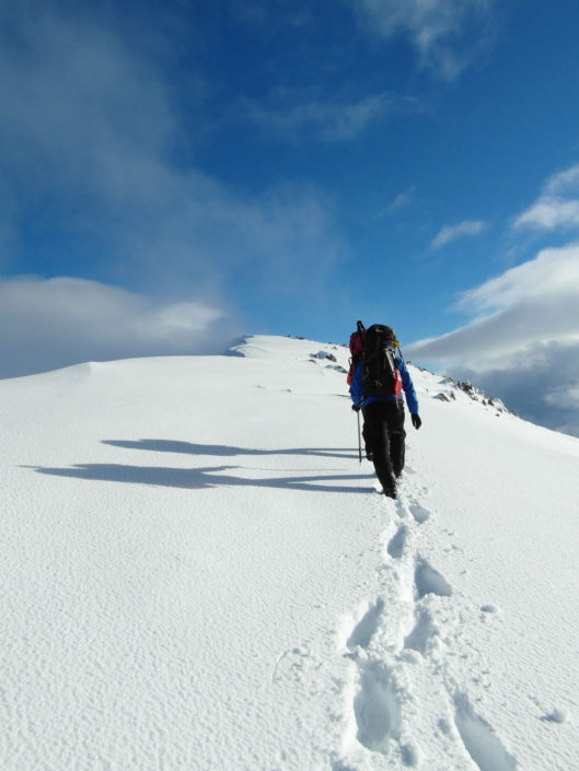 Perfect conditions for winter hillwalking